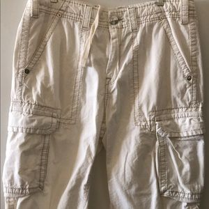 True Religion cargo shorts.